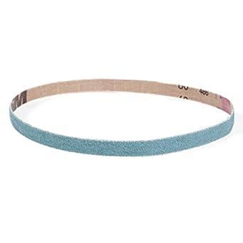60 Length Medium Grade Pack of 10 VSM 112470 Abrasive Belt 80 Grit 2 Width Blue Zirconia Cloth Backing