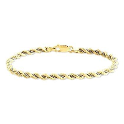 HISTOIRE D'OR - Bracelet Or - Femme - Or 2 couleurs 375/1000 - Taille Unique