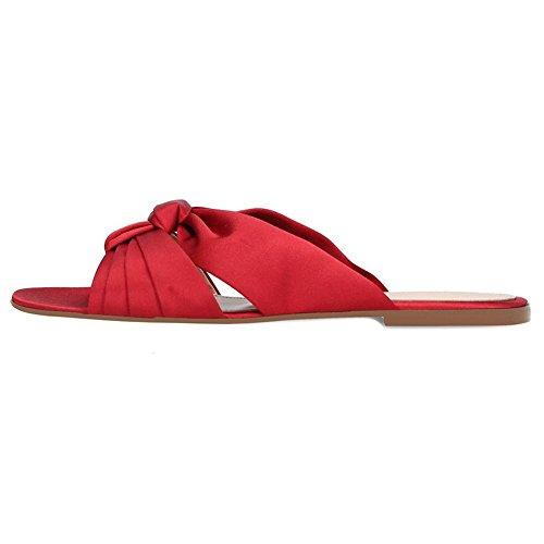 Plateforme 08011 Red Bohème Premier Grande Bout De Club Toe Taille KJJDE Soirée Pantoufles Ouvert Fête Plat Peep TLJ Mariage WSqYgpO