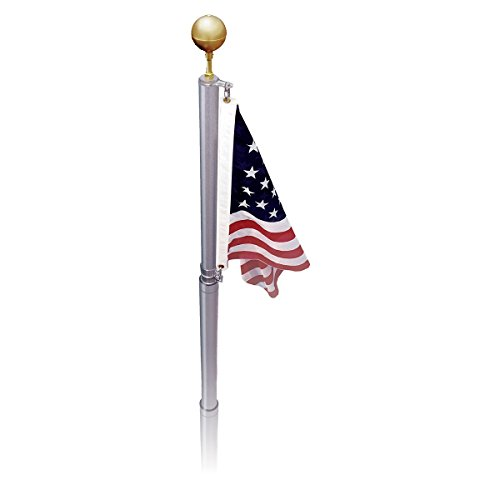 Cheap Online Stores Telescoping Flag Pole – US Made Silver 21ft 3x5ft Polyester USA Flag