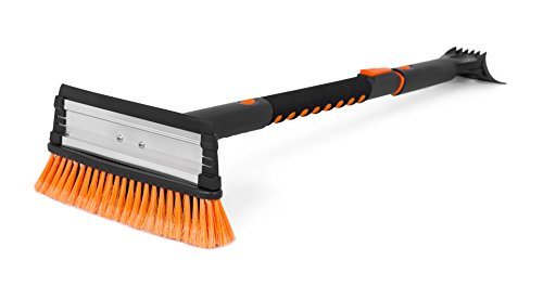 Snow Moover 39' Extendable Snow Brush with Squeegee & Ice Scraper | Foam Grip | Auto Snow Brush | Auto Ice Scraper | Car Truck SUV