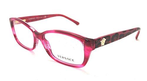Versace Eyeglasses VE3207 5132 Transparent Fuxia 54 16 - Eyeglasses Versace Luxottica