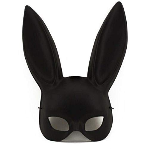 Black Masquerade Bunny Rabbit Ariana Grande Mask Adult Halloween Costume -