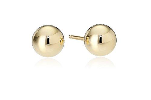 14k Yellow Gold 5mm Ball Stud Earrings