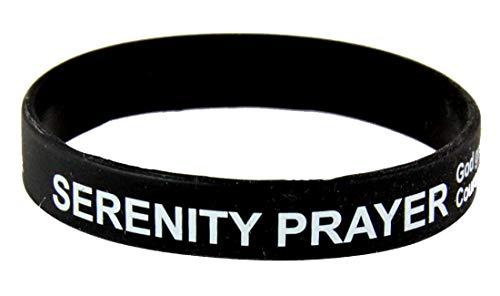 8090001 3 Bracelets Serenity Prayer Silicone Bracelet Rubber God Grant Me AA Al-Anon 12 Step