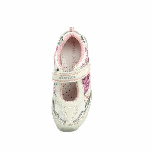 Geox - Bailarinas de Material Sintético para niña Bianco (bianco)