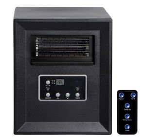 New New 1800 Sq. Ft Electric Portable Infrared Quartz Space Heater Fireplace Remote- PUNER Store