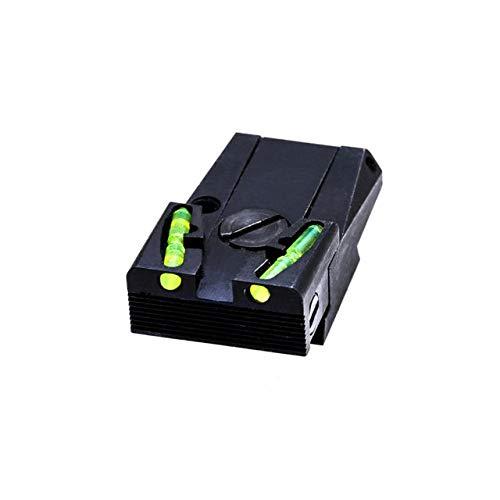 Hi-Viz HIVIZ Fully Adjustable Rear Sight for Ruger Mark I, II, III and IV Pistols (Elevation Adjustable Rear Sight)