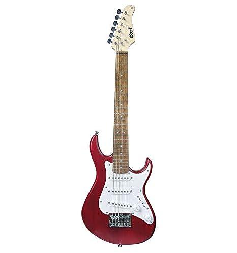 Cort G100 Junior - Guitarra eléctrica serie G - burdeos poros abiertos: Amazon.es: Instrumentos musicales