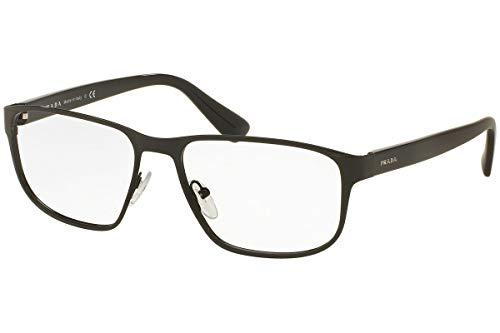 (Prada PR56SV Eyeglass Frames 7AX1O1-55 - Black)