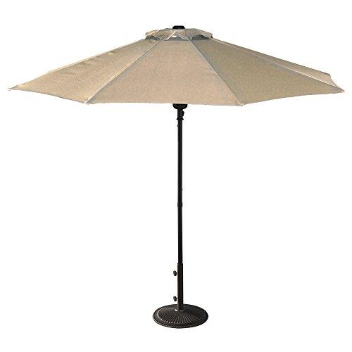(Island Umbrella NU5419CH Cabo Market Umbrella, 9-ft, Champagen)