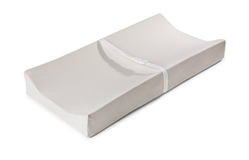 "Moonlight Slumber Contour Changing Pad Combo: Little Dreamer Premium Water Resistant 2-sided Contoured Changing Pad W/ Safety Straps + Hand Stitched Organic Cotton Cover (32""L x 16""W x 1.5""H) (Slumber Kids Furniture)"