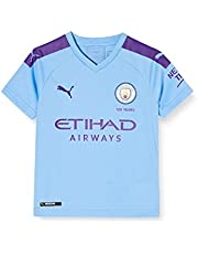 PUMA MCFC Home Shirt Replica SS Jr with Sponsor Logo - Maillot Unisex niños