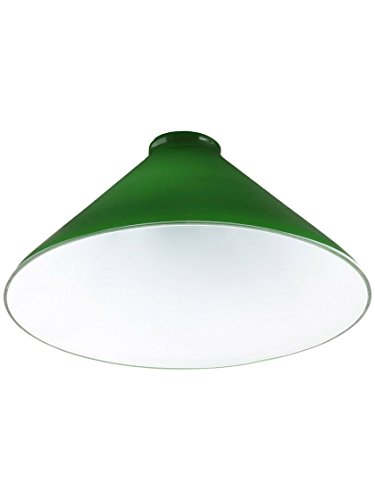 Upgradelights 10 Inch Green Glass Cased Lamp with 2 and 1/4 Inch Fitter - Light Chandelier Glass Eight Blown