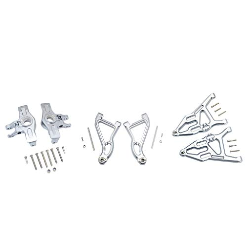 Alelife Aluminum Front Upper&Lower Arms+Knuckle Arms Set for TRAXXAS 1/7 UDR RC Car ()