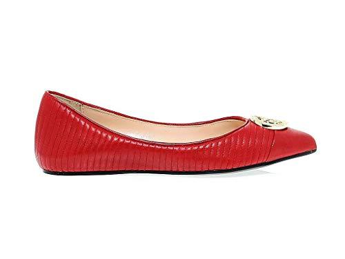 Love Moschino Luxury Fashion Womens 11020RED Red Flats   Season Permanent