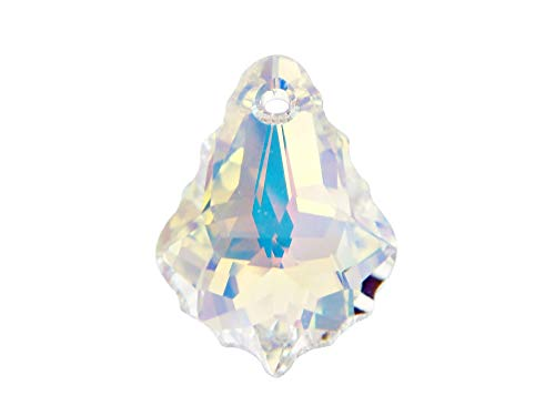 Swarovski Crystal, 6090 Baroque Pendant 22mm, Crystal AB, Wholesale Packs | Pack of 4 ()