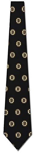 Boston Bruins Printed Prep Silk Neck Tie NHL Hockey Team Logo
