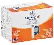 Bayer Contour TS Glucose Test Strips - 100 ct