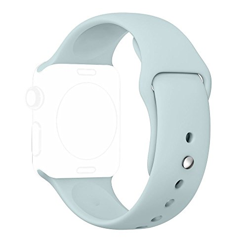 UPC 761710979733, SHIELDA Apple Watch Band, Soft Smart Watch Replacement Sport Band, Straps Are Included for 2 Lengths 38 mm - Turquoise - 3 Piece