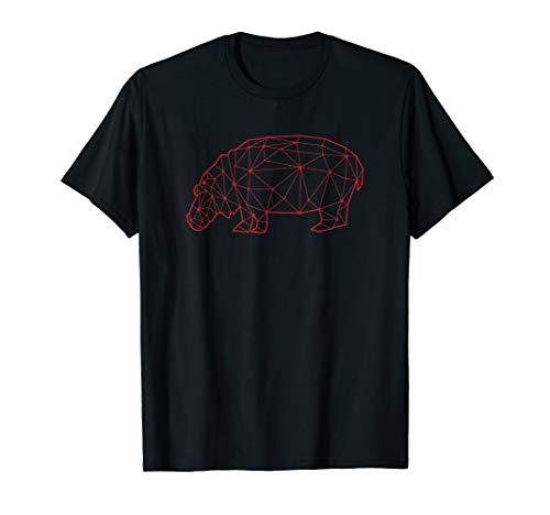 Geometric Hippopotamus T Shirts Low Poly Hippos Horse River