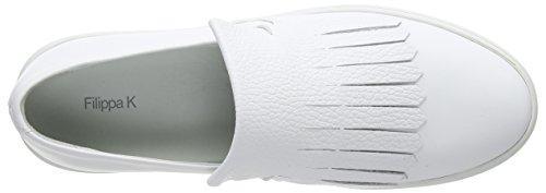 De Filippa Sur blanc K Chaussures Chaussures Allié Formateurs De Blanches Des Femmes Glissement rwg1wYqU
