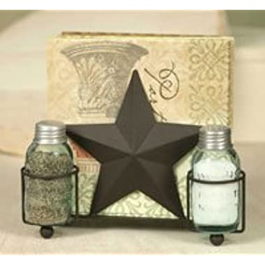 Star Salt Pepper and Napkin Caddy~holder