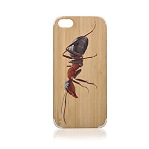 JOE Ant Pattern Bamboo Wood Plastic Hard Protective Case for iPhone 5/5S