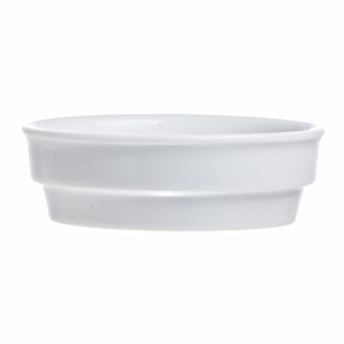 STACKABLE 6.7 Oz. Serving Bowls for Snack, Appetizer, Salad, Dips, Desserts, Ice Cream - White Porcelain, Restaurant&Hotel Quality (6) by Smart And Cozy