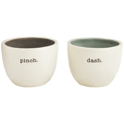 Colored Salt Pig - Rae Dunn Magenta Salt and Pepper Cellar Set ~ Pinch and Dash ~ 2 Piece Stoneware