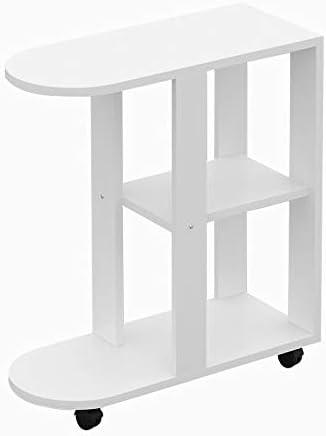 Fabrieksverkoop Saladplates-LXM kleine bijzettafel sofa tafel side/koffie/snack/opslag tafel met wielen voor huis, woonkamer, kantoor (2 kleuren) B 0on2SNp