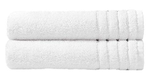 Cotton Craft - Super Zero Twist 2 Piece Oversized Bath Sheet Set 35x70 - White - 7 Star Hotel Collection Beyond Luxury Softer Than A Cloud - 100% Pure Super Zero Twist Cotton