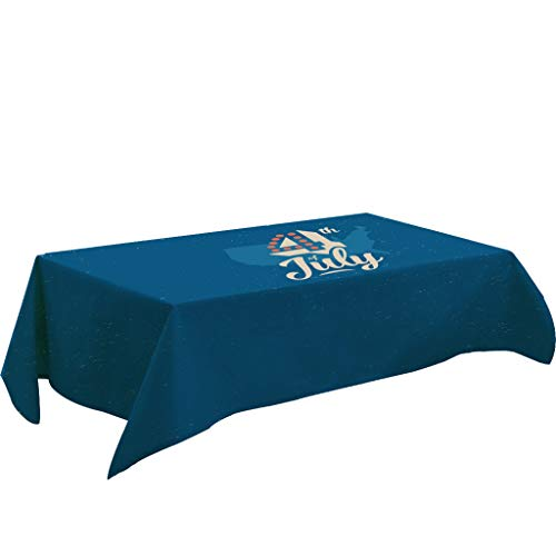 Lemoning , Independence Day Table Cloth Linen Tablecloth Kitchen Decor Dining Table Cover ()