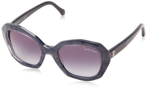 (Roberto Cavalli Women's RC797S5492B Oval Sunglasses,Blue,54 mm)