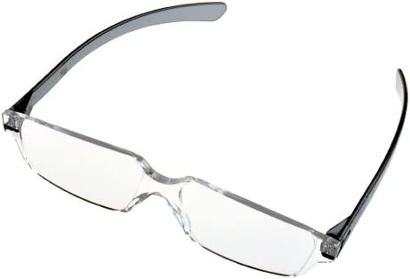全教図 老眼鏡 +3.5 度数 縁なし ど忘れ シニアグラス スモーク