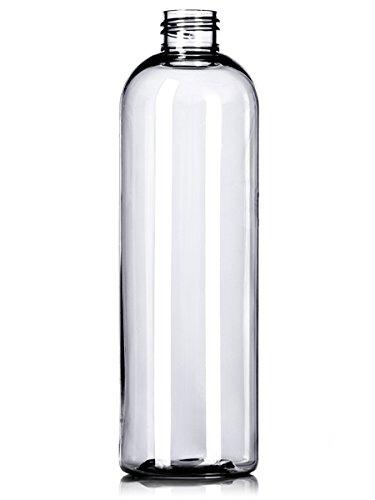 78351ed9cd9f Amazon.com: 6 Pack 16 oz Empty Clear PET Plastic Bullet Round ...