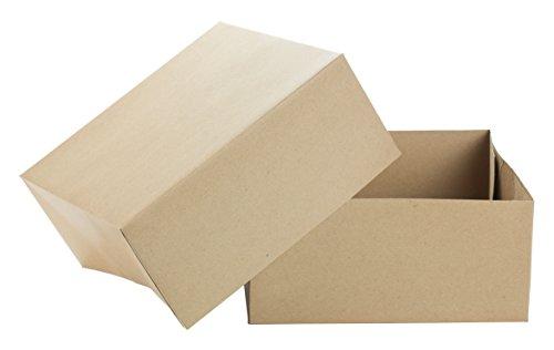 Premier Retail Packaging 10 Count Kraft Pinstripe Gift Box, 12 x 12 x 5.5