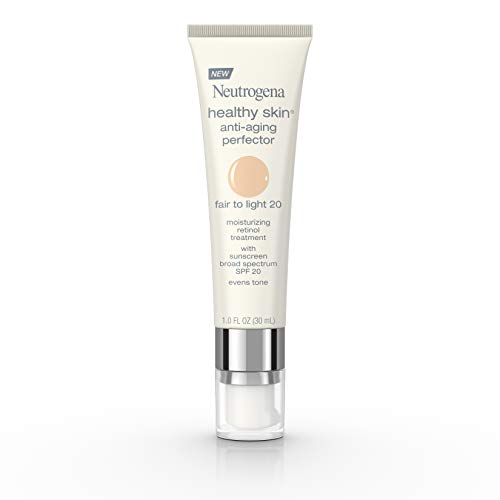 Neutrogena Healthy Skin Anti-Aging Perfector Spf 20, Retinol Treatment, 20 Fair To Light, 1 Fl. Oz. (Best Light Foundation For Sensitive Skin)