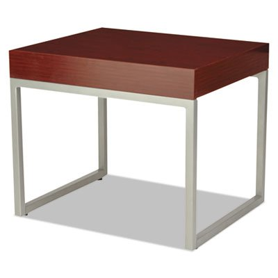 Occasional End Table, 23 5/8w x 20d x 20h, Mahogany/Silver, Sold as 1 Each by Generic