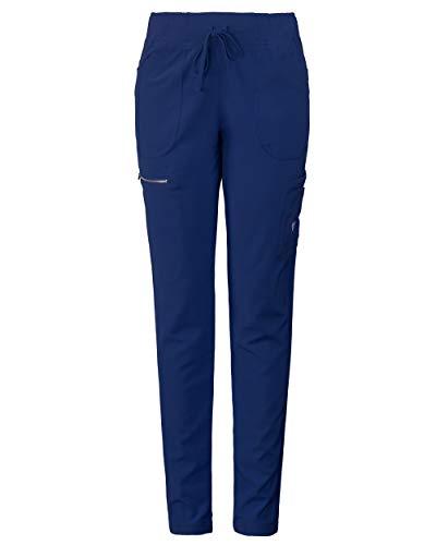 MG Superflex Women's Stretch Activewear Scrub Pant Tapered Leg Jogger (M, Navy)