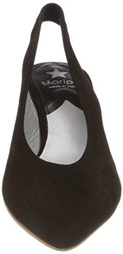 Nero Con Maripé Dietro Cinturino Col La Nero camoscio Scarpe 26653 Caviglia Donna Tacco rRnRxw67Iq