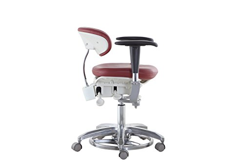 SoHome Microsope Dynamic Chair Foot Controlled Doctor's Mobile Stool with Swiveling Armrest MDS-FC1 by SoHome (Image #2)