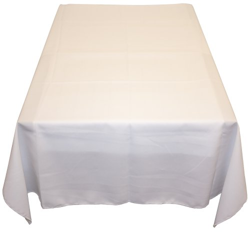 Table in a Bag WHT6060 Square Polyester Tablecloth, 60-Inch by 60-Inch, White by Table in a Bag