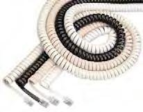 Curley Cord - Curley Cord L-H4DU-12-CG Handset Cord - Charcoal Gray, 12 ft.