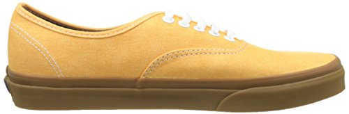 Vans Ua Authentic, Zapatillas para Hombre Amarillo (Washed Canvas Citrus/gum)