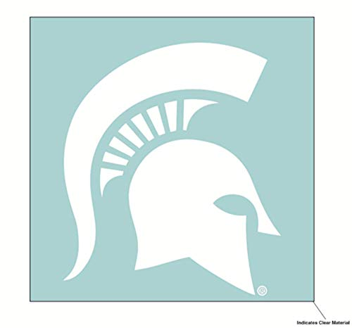 Wincraft NCAA Michigan State University Spartans 6 x 6 inch White Decal