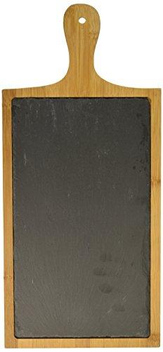 (True 3946 Trim Slate and Bamboo Cheeseboard, Natural)