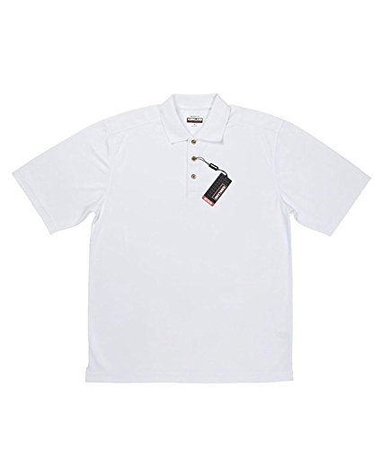 Kirkland Men's Performance Moisture Wicking Polo - 4 Colors & Sizes - White...