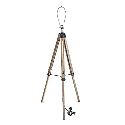 LNC Old Wood Tripod Floor Lamp Stand ?Base Only?