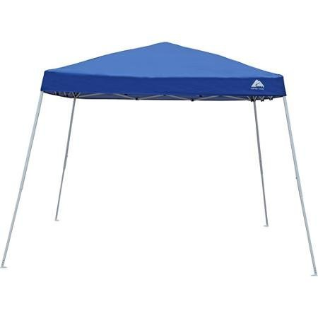(Steel and Polyester Construction 10x10 Slant Leg Instant Canopy/Gazebo Shelter (100 sq. ft Coverage), Blue)